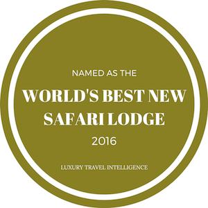 Named World's Best New Safari Lodge 2016