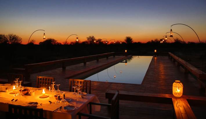 Private dining at the pool for sunset