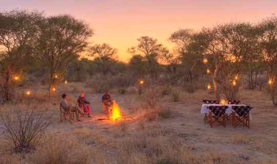Bush dining in the Kalahari