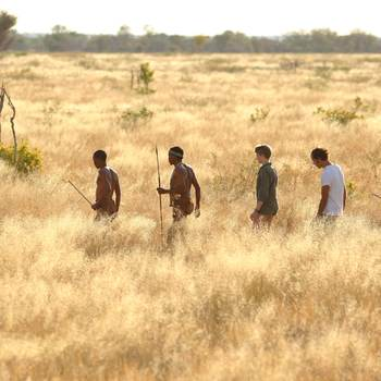 Kalahari walking safari with Bushmen
