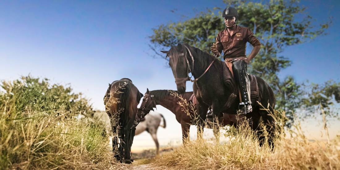 Horse riding in the Kalahari