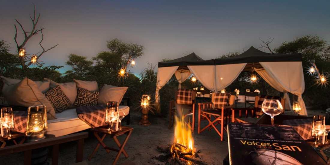 Khwai lounge and dining area