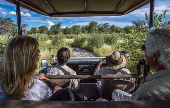 Game drive in Kalahari