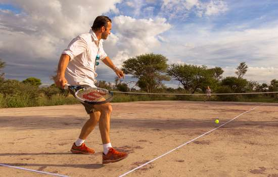 Tennis game in the Kalahari