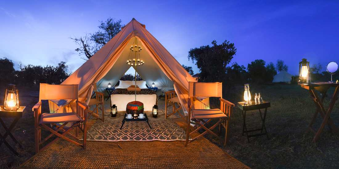 Luxury bell tent exterior