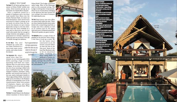 Elle article - Camping in Style