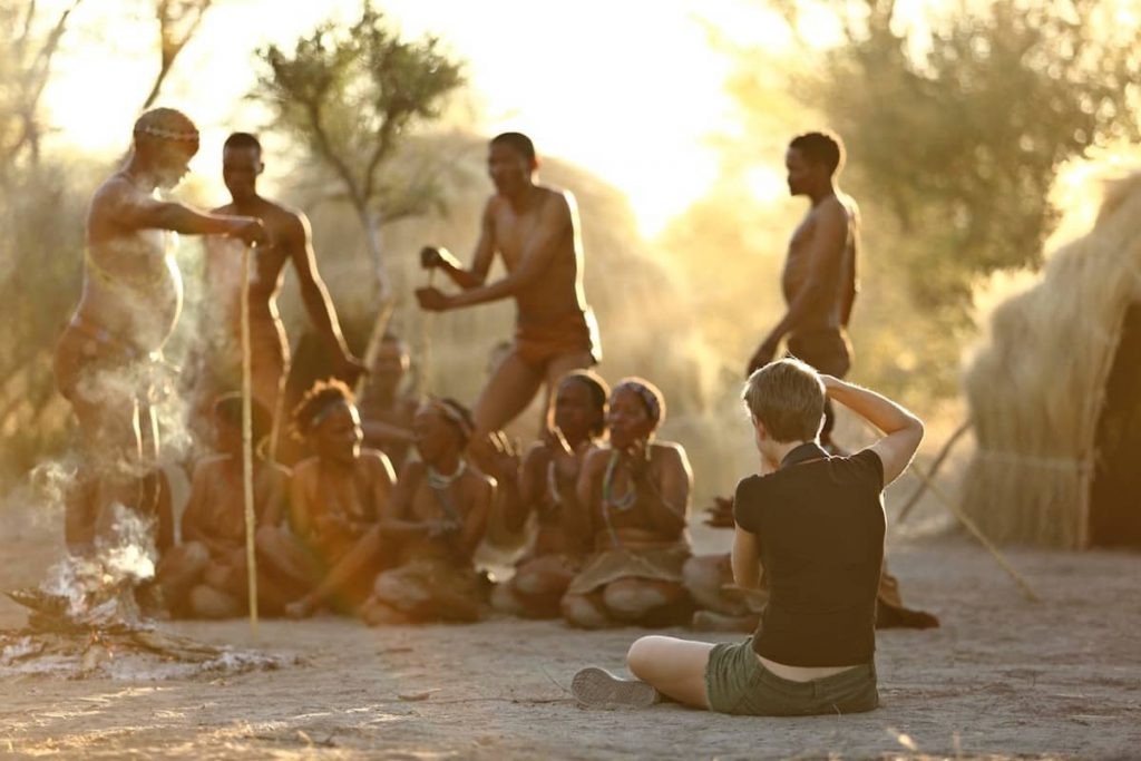 Photographing the Bushmen trance dance