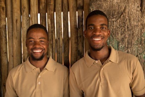 Smiling waiters